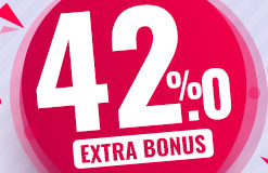 Have a great day and grab 42% extra coins!